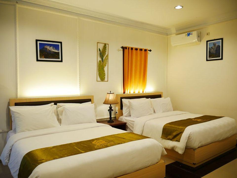 kamar rumah bambu d'kaliurang